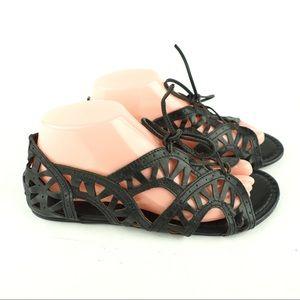 NWT Crown Vintage black leather gladiator sandal 9